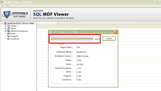 View SQL Database screenshot